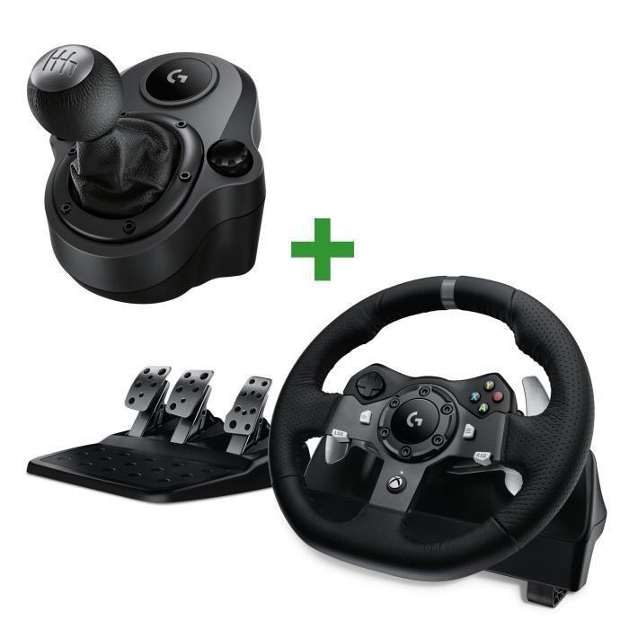 Pack Logitech compatible Xbox One et PC - Volant G920 Driving Force + Levier de Vitesse Driving Force Shifter