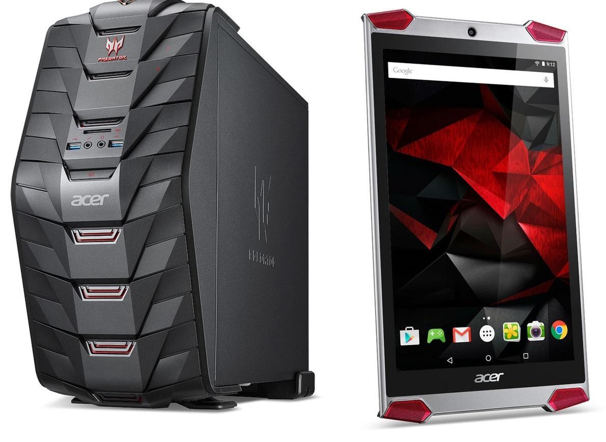 """Tour PC Acer Predator G3-710.008 -  i5-6400, RAM 8Go, 1To, GTX 960, Windows 10 + Tablette 8"""" Acer Predator GT-810-14M4 - FHD, RAM 2Go, SSD 32Go"""