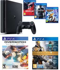 Pack Console PS4 Slim 1To + Uncharted 4 : A Thief's End + Drive Club + Ratchet & Clank + Overwatch Origins Edition + Destiny The Collection