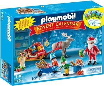 Jouet Playmobil Calendrier de l'Avent Atelier de jouets avec Père Noël et lutins (5494)