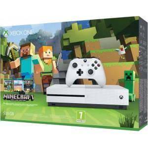 Pack console Xbox One S  500 Go + Minecraft (avec 30€ sur la carte)