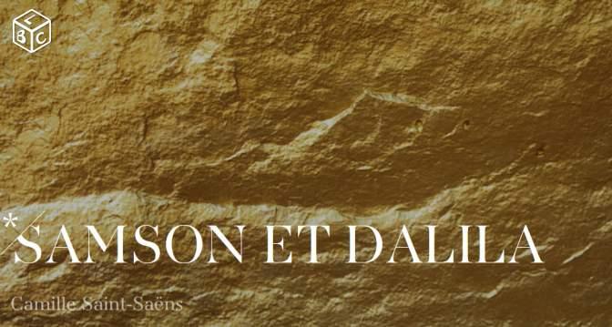 Entrée Samson et Dalila CAT 1 à l'Opéra Bastille pour les -28ans (le 2 novembre)