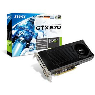 Carte graphique MSI NVIDIA GeForce GTX 670 OC + Spinter Cell Blacklist