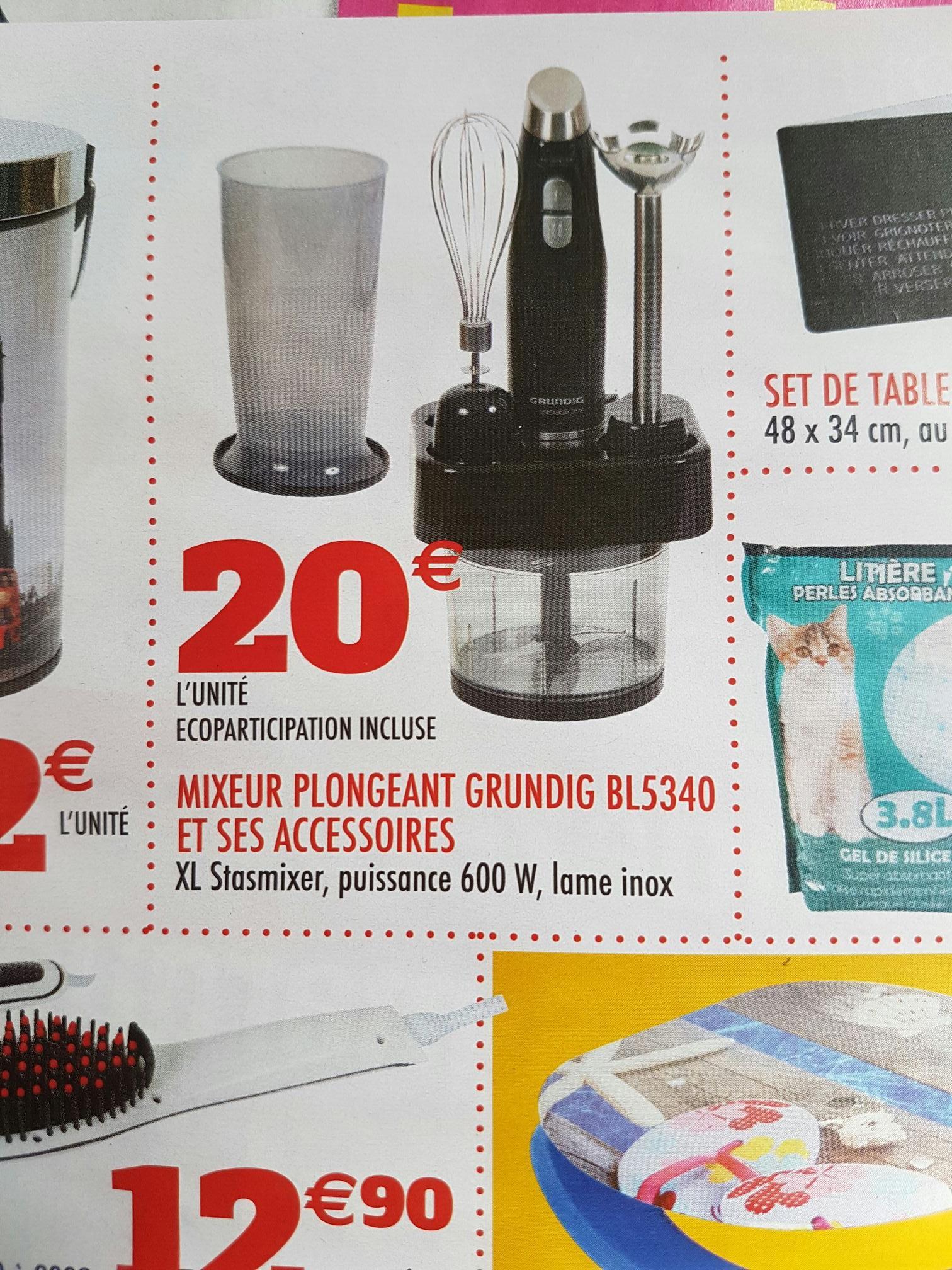 Mixeur plongeant Grundig BL5340 - 600W