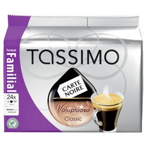 3 paquets Tassimo Carte Noire 'Familial' (soit 72 dosettes)