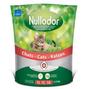 Lot de 3 sacs de litière Nullodor pour chats adultes (3x 1.5kg)