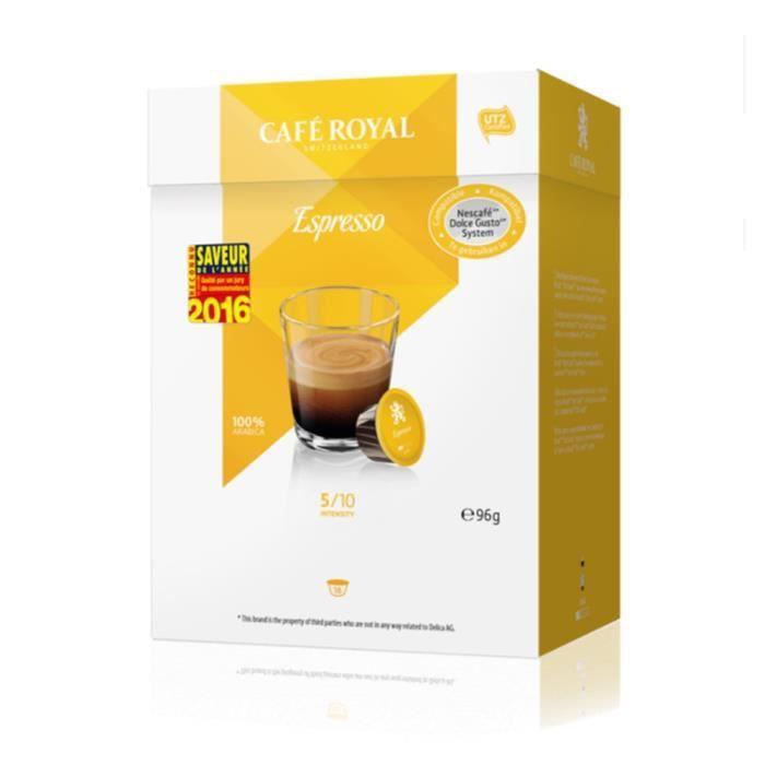Paquet de 16 dosettes de Café Royal (compatibles Dolce Gusto) - différentes variétés