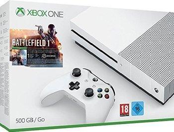 Pack console Microsoft Xbox One S (500 Go) + 2ème manette + Battlefield 1
