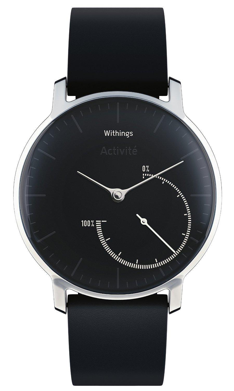 Montre connectée Withings Activité Steel - 8 mois d'autonomie - bracelet en cuir noir