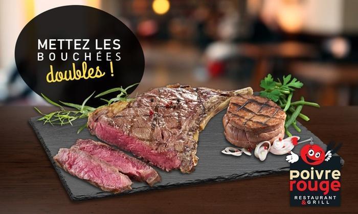 Une grillade de bœuf offerte pour une grillade de bœuf achetée chez Poivre Rouge
