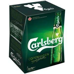 Pack de bières Carlsberg - 6 x 25 cl gratuit (via 2.91€ sur la carte + BDR)