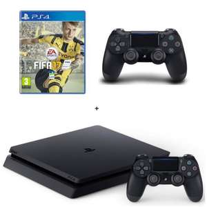 Pack Console Sony PlayStation PS4 Slim 1 To + 2eme manette + FIFA 17