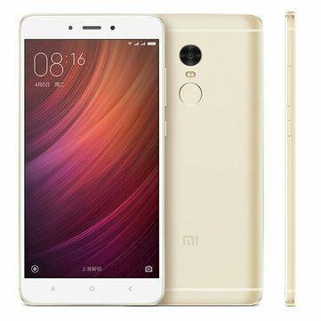 "Smartphone 5.5"" Xiaomi Redmi Note 4 Gold - Full HD, Helio X20, RAM 3 Go, ROM 64 Go"