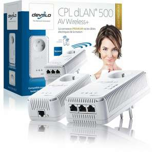 Pack de 2 adaptateurs dLan 500 AV Wireless+