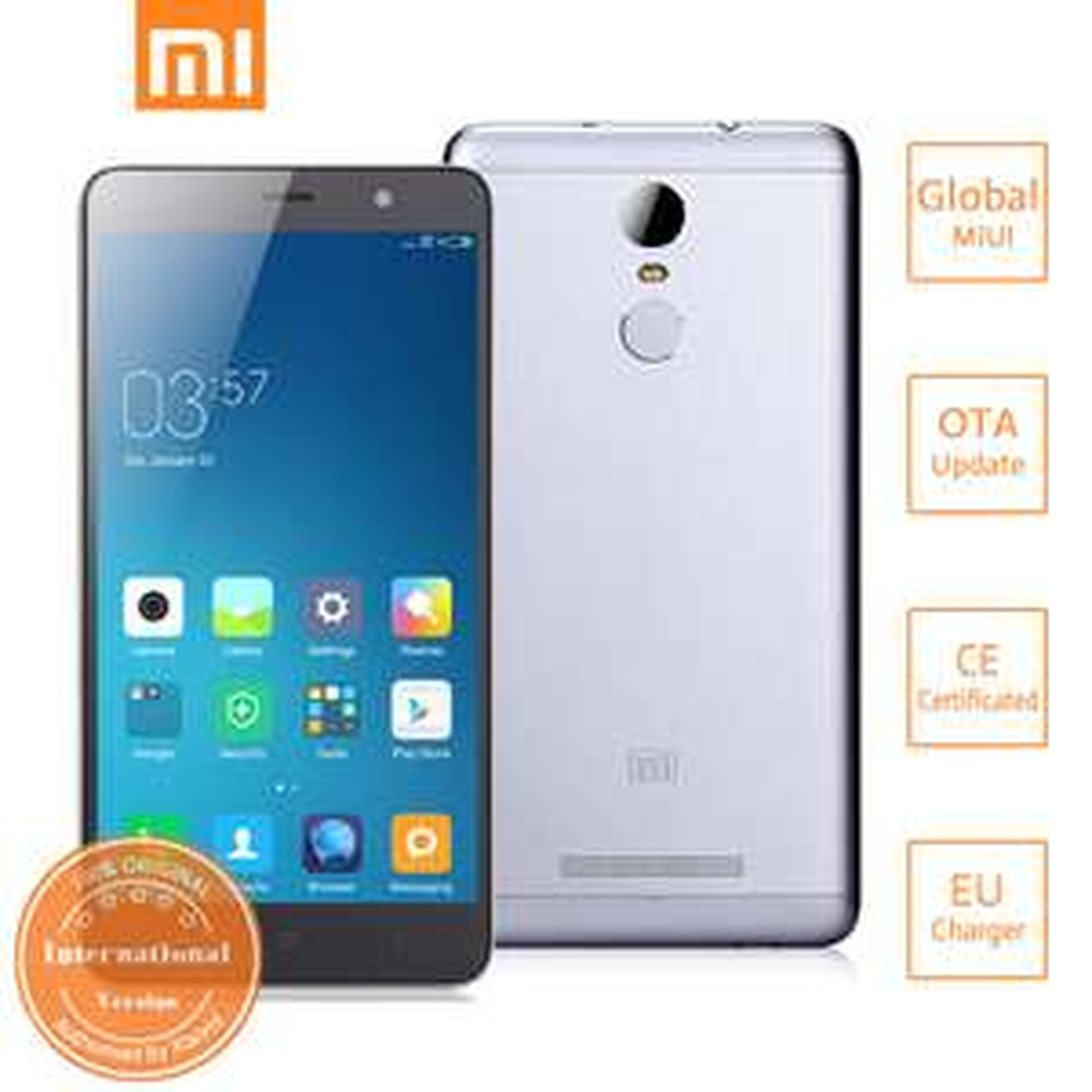 "Smartphone 5.5"" Xiaomi Redmi Note 3 Pro - Dual SIM, Full 4G, Full HD, Snapdragon 650 , RAM 3Go, ROM 32Go, 4000mAh, Android 6.0"