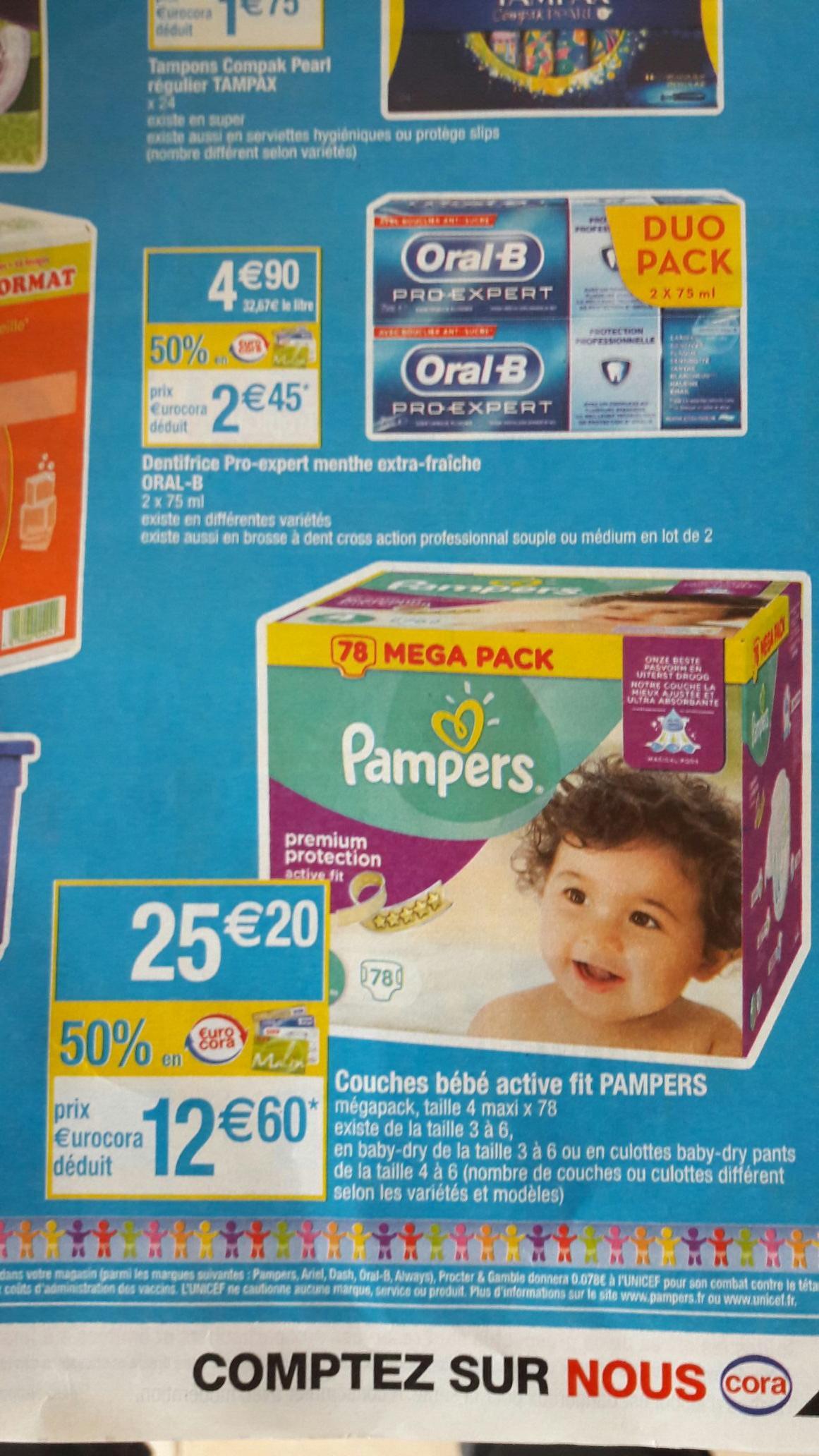 Megapack de couches Pampers Active Fit T4 (via 12.60€ sur la carte et 2€ CN)