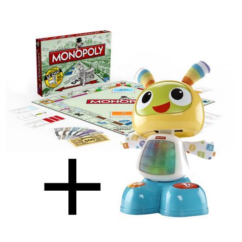 Sélection de jouets en promo - Ex: Bebo le Robot + Monopoly (via 19€40 sur la carte + BDR)