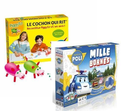 Sélection de jeux de société en promotion - Ex: Mille Borne RobocarPoli + Cochon qui Rit + Playmobil + 19.11€ de bon d'achat (via ODR de 19€90)