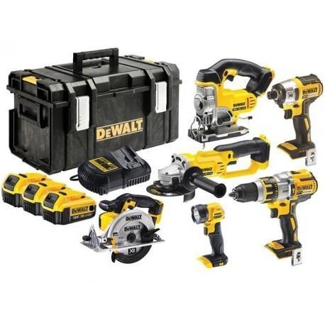 Pack de 6 Machines-outils Dewalt DCK694P3  -18 V Li-Ion 3 x 5,0 Ah