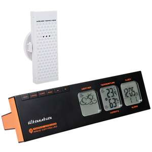Sélection d'articles jardin Ultranatura en promotion  - Ex : Ultranatura UN 400 T Shape with Radio Controlled Clock and Weather Station with External Thermo Hygro Sensor