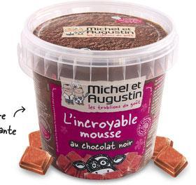 Le pot de mousse au chocolat Michel et Augustin offert sur présentation du 20 minutes