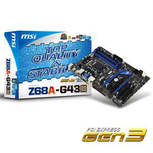 Carte mère MSI Z68A-G43 (G3) - socket LGA 1155 - Chipset Intel Z68