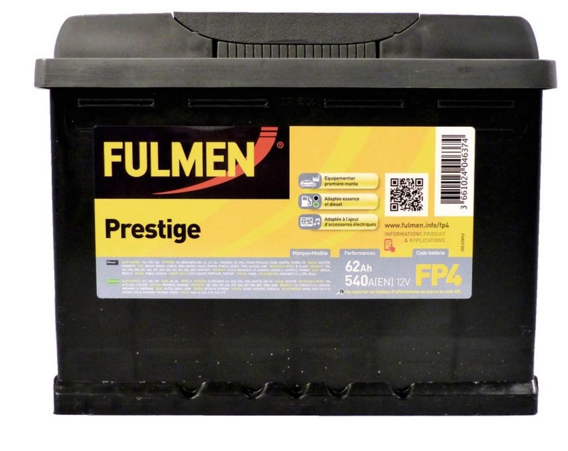 40% crédité fidélité sur les batteries fulmen prestige - Ex : Batterie FP4 540A 62AH (via 39.96€ fidélité)