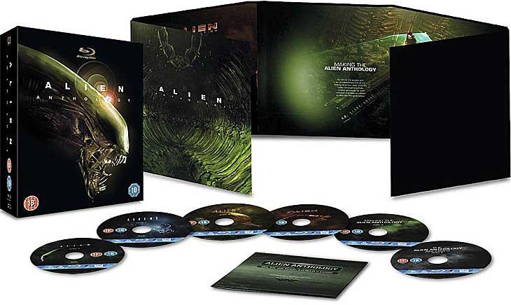 Coffret Blu-ray Alien Anthology (4Films, 6 Disques)