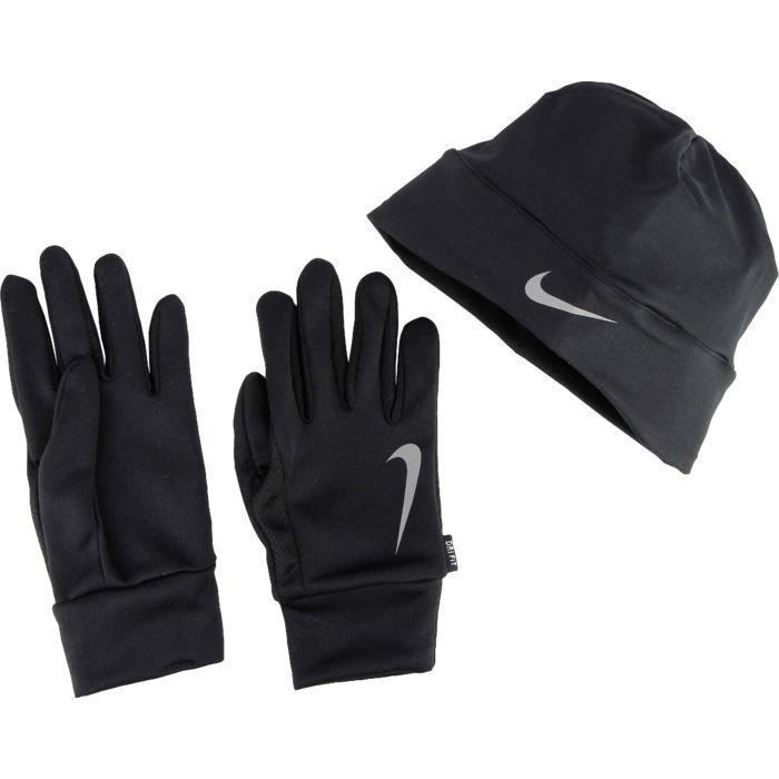 Pack Bonnet + Gants Running Homme Nike Dri-FIT