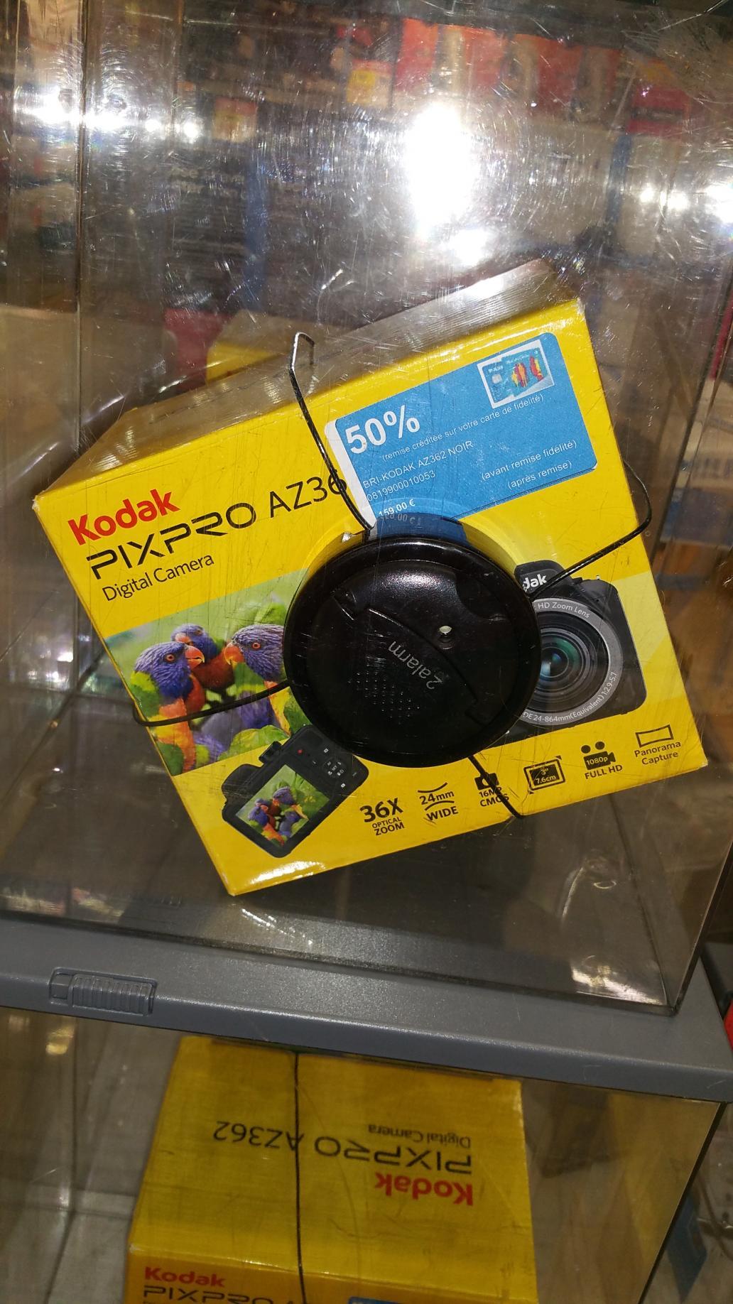Appareil photo numérique bridge Kodak PixPro AZ362 - 16 Mpix, zoom x36, Noir à (via 50% sur la carte)