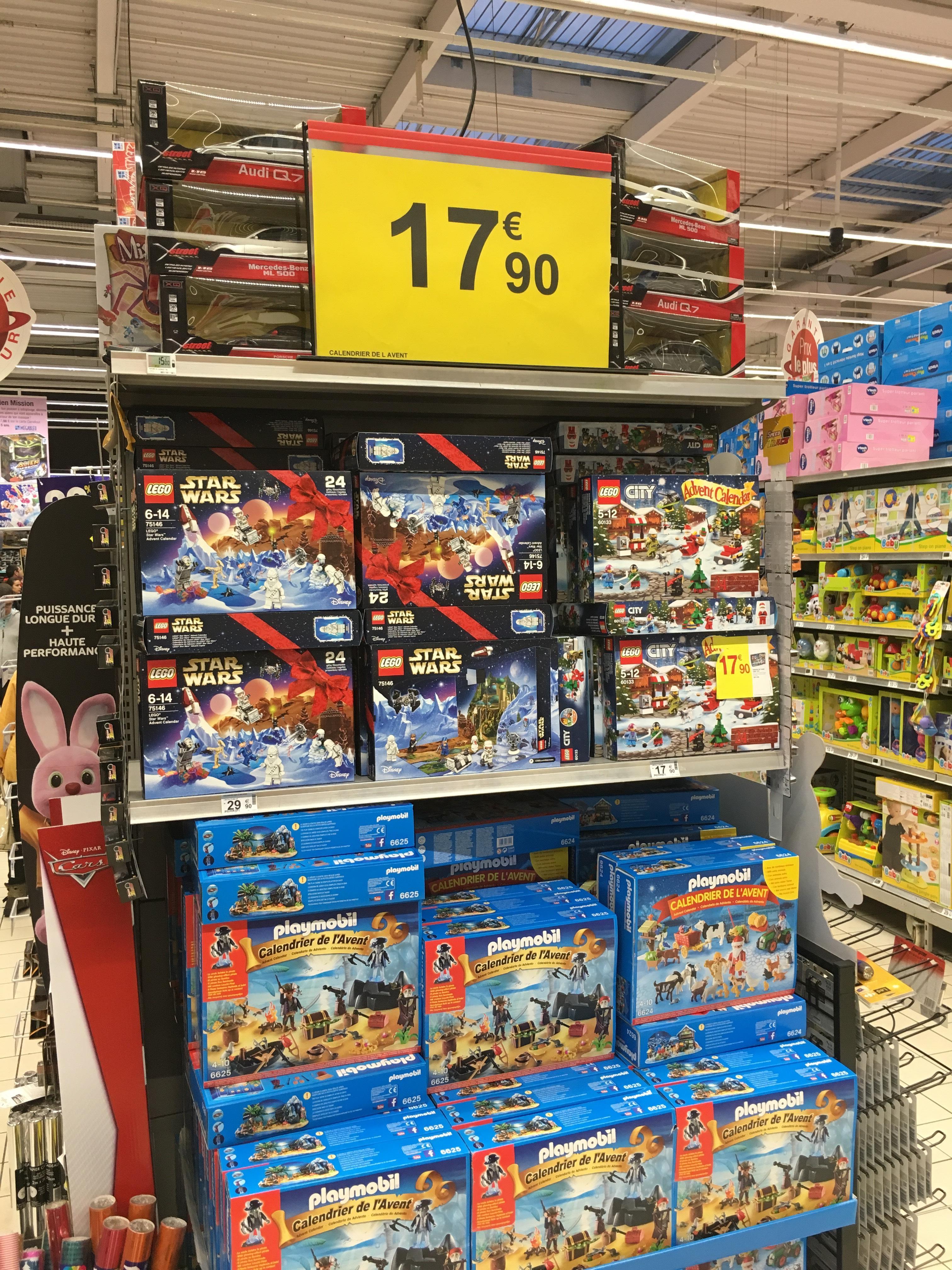 Calendrier de l'avent Lego City, Lego Star Wars ou Playmobilà