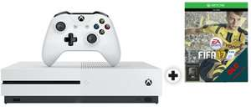 Console Microsoft Xbox One S + Fifa 17 - 1To - blanc