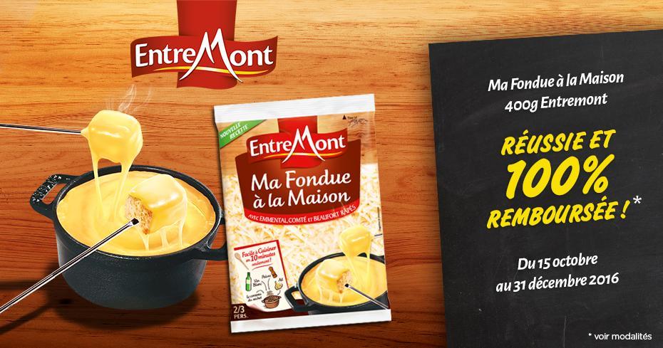 Sachet de fromages râpés Entremont Ma Fondue à La Maison 400g gratuit (via ODR 100%)