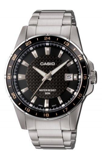 Montre Casio MTP-1290D-1A2VEF Quartz Analogique, Bracelet Acier