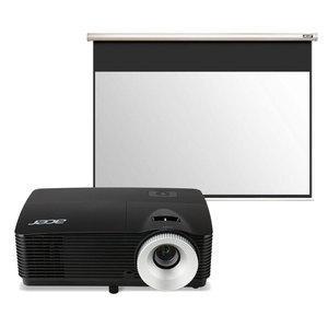 Pack vidéoprojecteur Acer X152H (full HD, 3D, 3000 lumens) + Ecran Acer M90-W01MG(200cm de base)