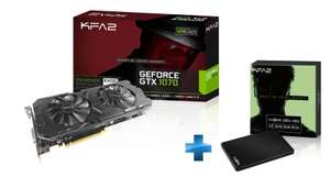 Carte graphique KFA2 GTX 1070 EX - 8 Go + SSD KFA2 Gamer 120 Go (TLC)