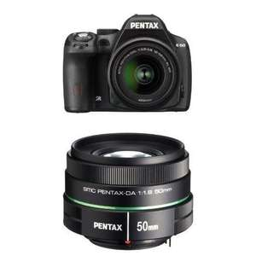Appareil photo numérique Reflex Pentax K-50 Noir - 16MP + 2 Objectifs (18-55 mm et DA50 MM F1.8)