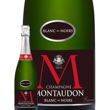 Bouteille de champagne brut Montaudon Blanc de Noirs - 75c (avec 50% sur la carte)