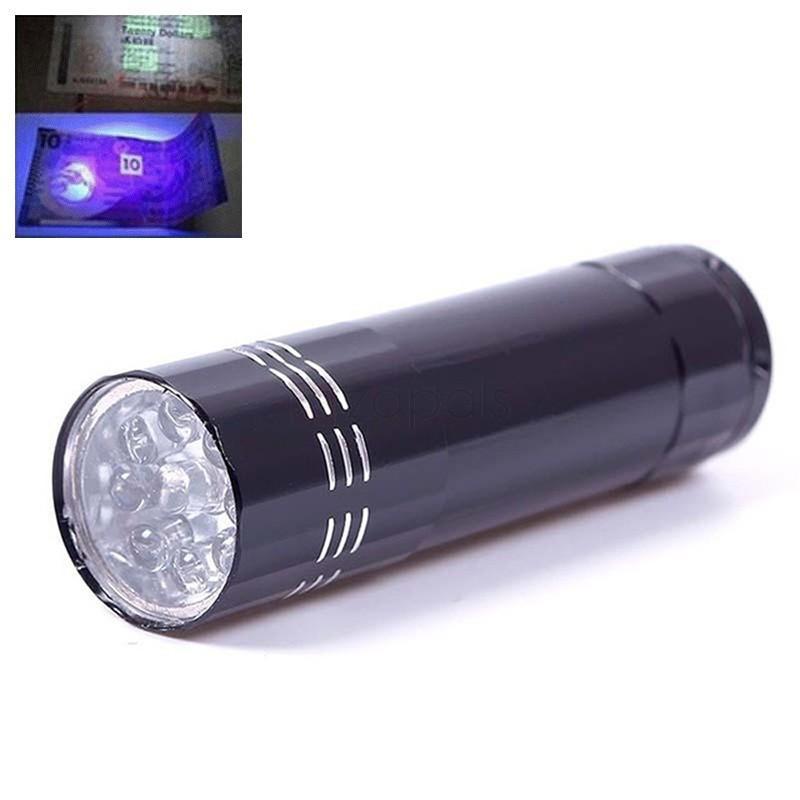Lampe torche à LED UV - 4.5 V (Livraison comprise)