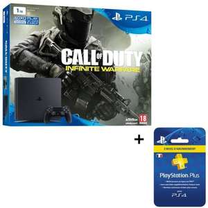 [Cdiscount à volonté] Console Sony PS4 Slim 1To + Call of duty infinity warfare + 3 mois d'abonnement PSN