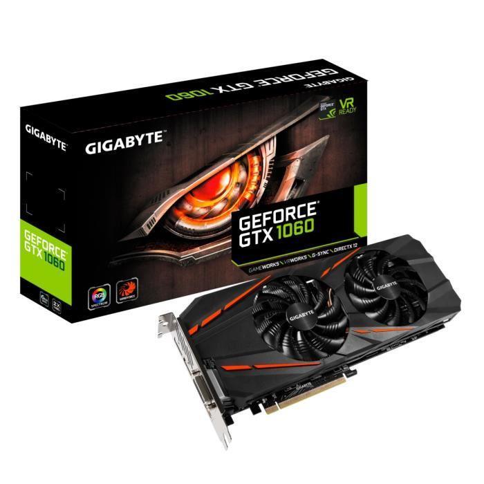 [CDAV] Carte graphique Gigabyte GeForce GTX 1060 OC - 6 Go