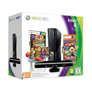 Différents pack XBOX 360 en promotion : Pack 4 Go  + Kinect + Carnival