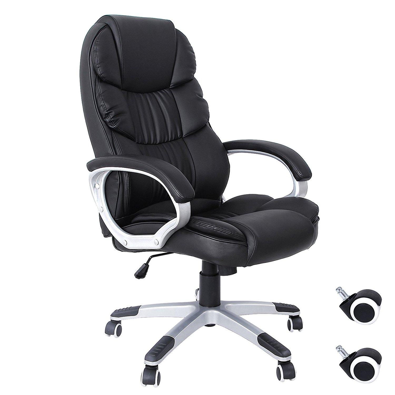 Chaise fauteuil de bureau Songmics Songmics OBG24B - Noir