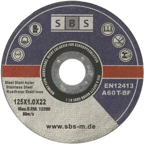 Lot de 50 disques à découper pour acier inoxydable SBS pour meuleuse (125mm) 125 x 1 mm