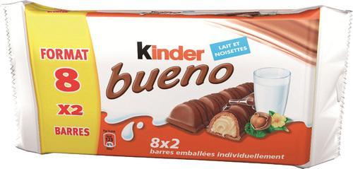 Lot de 8 Kinder Bueno (avec 2.43€ en bon d'achat)