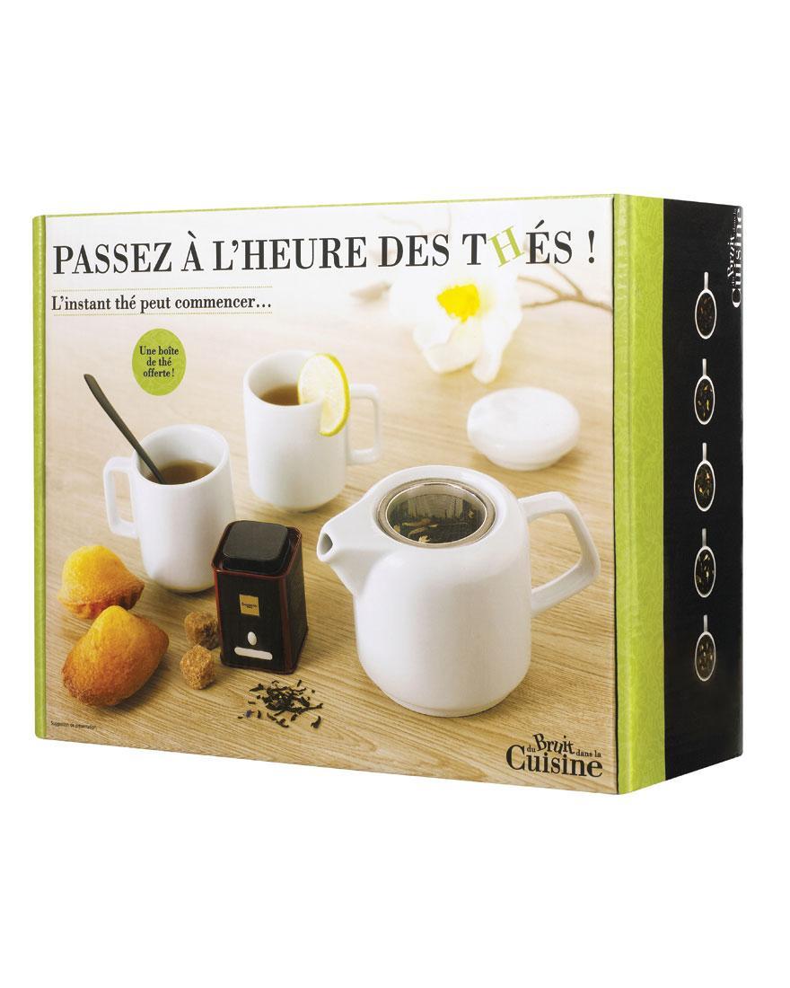 Coffret théière + 2 tasses + thé Dammann