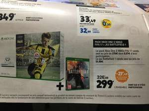 Pack Console Microsoft Xbox One S 500 Go + FIFA 17 + Battlefield 1