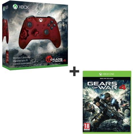 Pack Manette Sans Fil Xbox One S Gear Of War 4 - Edition limitée + Jeux Gears of War 4 sur Xbox one