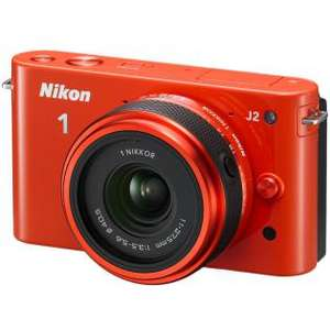 Appareil photo Nikon 1 J2 Kit 11-27,5 Nikkor orange (avec ODR 50€)