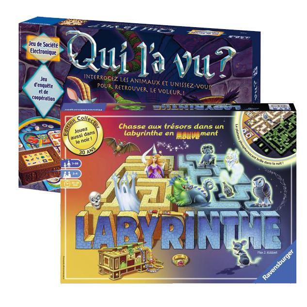 1 jeu Ravensburger acheté = le 2ème à 1€ (le moins cher, via ODR) - Ex:  Labyrinthe Edition 30ème anniversaire + Qui l'a vu ?